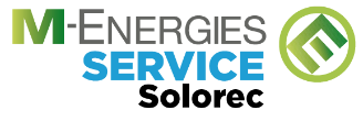 Le logo M-ENERGIES SERVICE Solorec