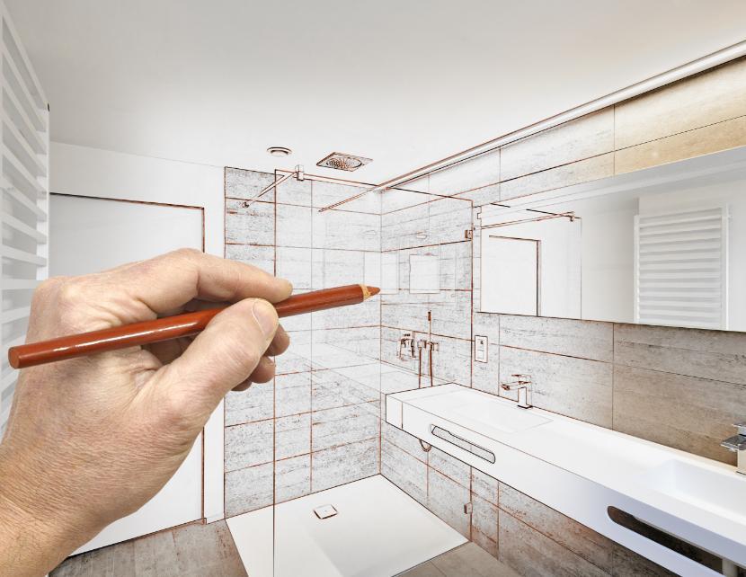 Le plan d'une salle de bain