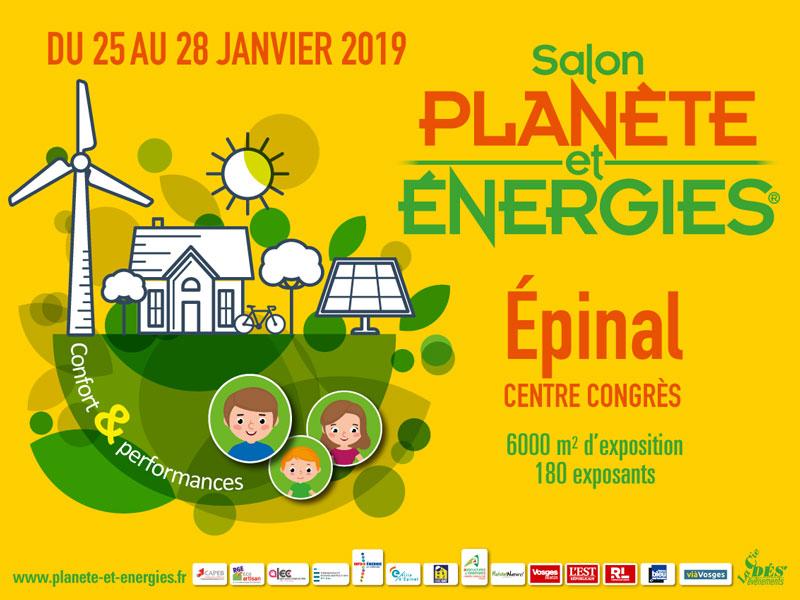 Affiche du salon Planete et Energie 2019 à Epinal