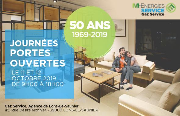 Gaz Service : Portes Ouvertes les 11 et 12 octobre 2019 à Lons-le-Saunier